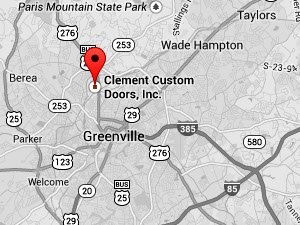 The location of Clement Custom Doors as prestend by google maps.